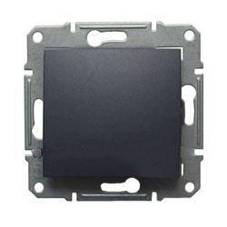 Фото  1 Выключатель 1-клавишный перекрестный Schneider Electric Sedna графит SDN0500170 1943906