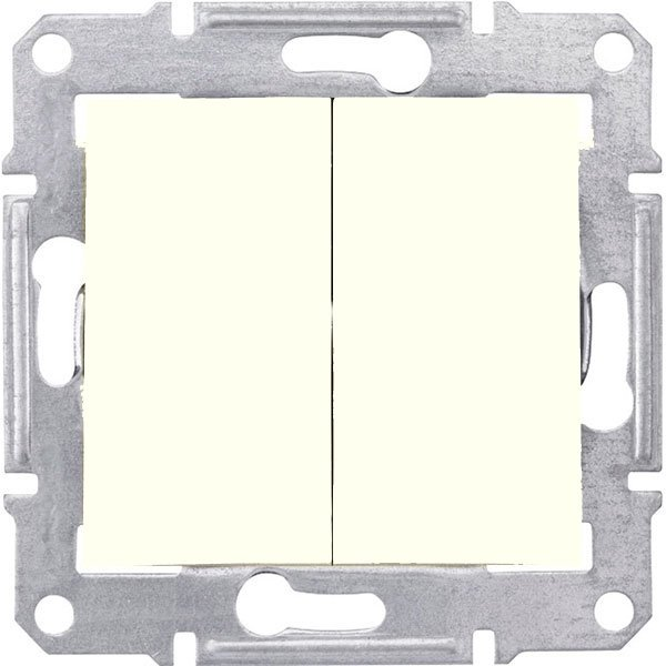 Фото  1 Выключатель 2-клавишный проходной Schneider Electric Sedna слоновая кость SDN0600123 1943908