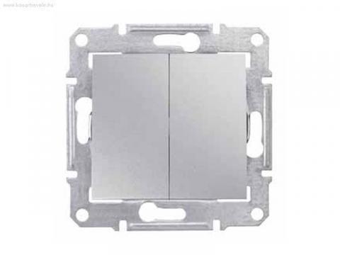 Фото  1 Выключатель 2-клавишный проходной Schneider Electric Sedna алюминий SDN0600160 1943909