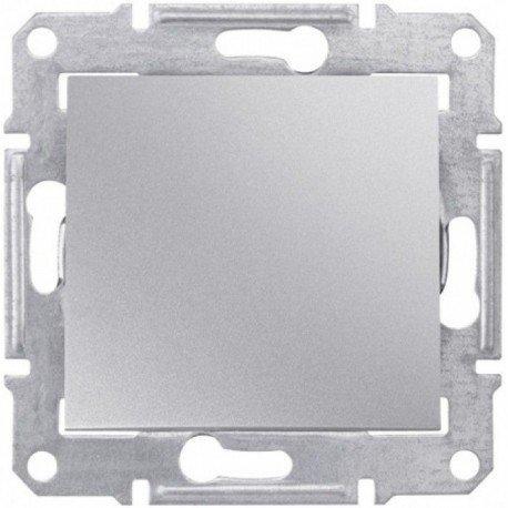 Фото  1 Выключатель кнопочный Schneider Electric Sedna алюминий SDN0700160 1943914