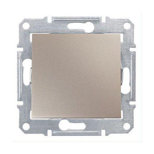 Фото  1 Выключатель кнопочный Schneider Electric Sedna титан SDN0700168 1943915