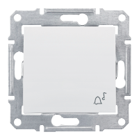 Фото  1 Выключатель кнопочный ЗВОНОК Schneider Electric Sedna белый SDN0800121 1943917