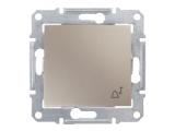 Фото  1 Выключатель кнопочный ЗВОНОК Schneider Electric Sedna титан SDN0800168 1943920