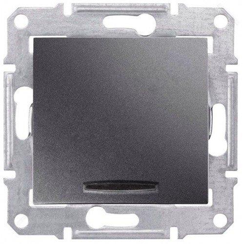 Фото  1 Выключатель 1-клавишный с подсветкой Schneider Electric Sedna графит SDN1400170 1943926
