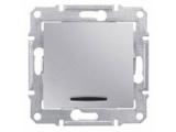 Фото  1 Выключатель 1-клавишный проходной с подсветкой Schneider Electric Sedna алюминий SDN1500160 1943929