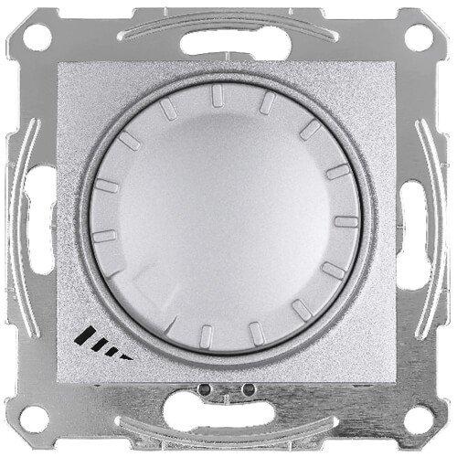 Фото  1 Диммер пов.-наж. LED простой 4-400Вт Schneider Electric Sedna алюминий SDN2201260 1943934