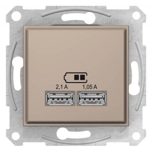 Фото  1 USB розетка 2,1A Schneider Electric Sedna слоновая кость SDN2710223 1943938