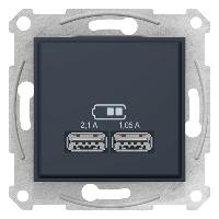 Фото  1 USB розетка 2,1A Schneider Electric Sedna графит SDN2710270 1943941