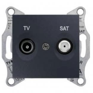 Фото  1 Розетка TV/SAT конечная Schneider Electric Sedna графит SDN3401670 1943969