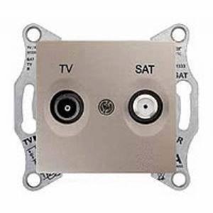 Фото  1 Розетка TV/SAT проходная Schneider Electric Sedna титан SDN3401968 1943973