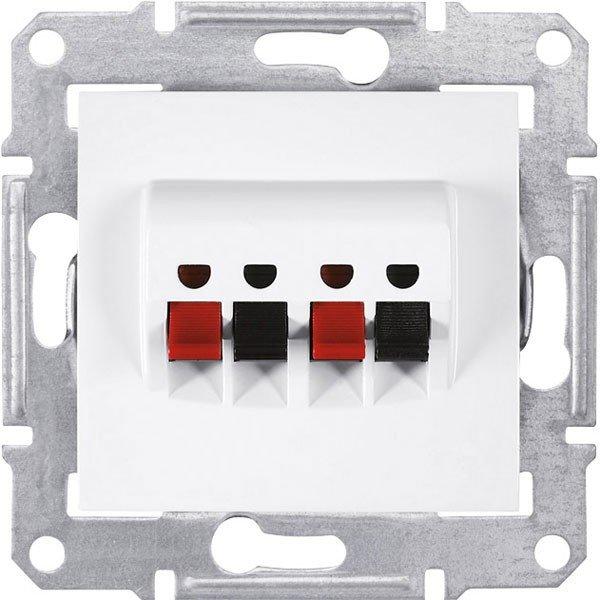 Фото  1 Аудиорозетка Schneider Electric Sedna белая SDN5400121 1944000