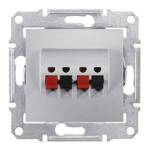 Фото  1 Аудиорозетка Schneider Electric Sedna алюминий SDN5400160 1944002