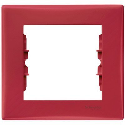 Фото  1 Рамка 1-постовая Schneider Electric Sedna красная SDN5800141 1944018