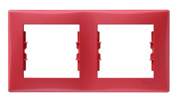 Фото  1 Рамка 2-постовая Schneider Electric Sedna красная SDN5800341 1944025