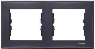 Фото  1 Рамка 2-постовая Schneider Electric Sedna графит SDN5800370 1944028