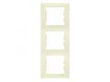 Фото  1 Рамка 3-постовая вертикальная Schneider Electric Sedna слоновая кость SDN5801323 1944058