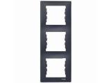 Фото  1 Рамка 3-постовая вертикальная Schneider Electric Sedna графит SDN5801370 1944063