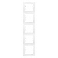 Фото  1 Рамка 5-постовая вертикальная Schneider Electric Sedna белая SDN5801521 1944064