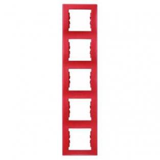 Фото  1 Рамка 5-постовая вертикальная Schneider Electric Sedna красная SDN5801541 1944067