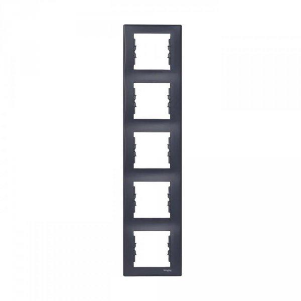 Фото  1 Рамка 5-постовая вертикальная Schneider Electric Sedna графит SDN5801570 1944070