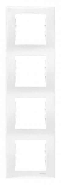 Фото  1 Рамка 4-постовая вертикальная Schneider Electric Sedna белая SDN5802021 1944071
