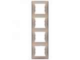 Фото  1 Рамка 4-постовая вертикальная Schneider Electric Sedna титан SDN5802068 1944076