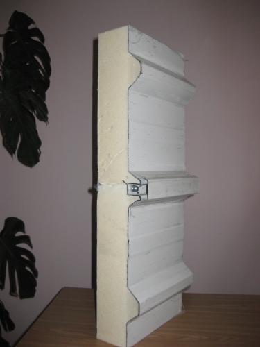 Сэндвич-панель крышная с двухсторонней облицовкой наполнитель пенополиуретан ППУ 1ПТК 120-2х0,5-1190