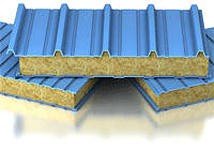 Сэндвич-панели из минеральной ваты :Панель крышная с двухстор. облиц. МВ: 1ПТК 150-2х0,5-960.