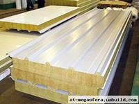 Сэндвич-панели из минеральной ваты :Панель крышная с двухстор. облиц. МВ: 1ПТК 50-2х0,5-960.