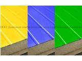 Сэндвич-панели из минеральной ваты:Панель стеновая с двухстор. облиц. МВ:1ПТС 120-2х0,5-1190 .