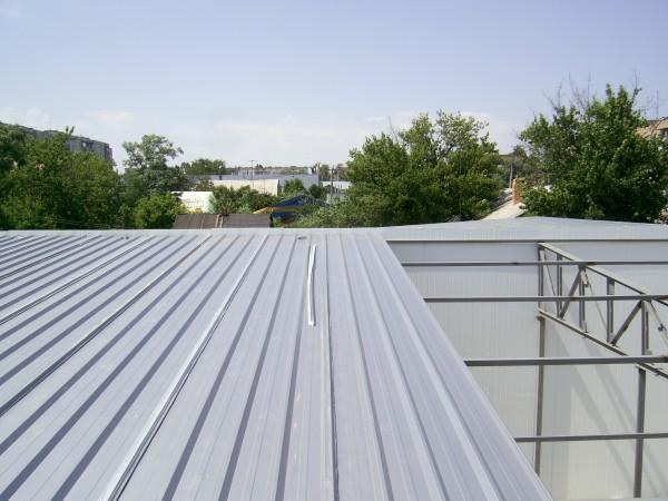 Сэндвич-панели из пенополистирола :Панель крышная с двухстор. облиц. ППС: 1ПТК 80-2х0,5-960.