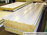 Сэндвич-панели из пенополиуретана :Панель крышная с двухстор. облиц. ППУ: 1ПТК 100-2х0,5-960.