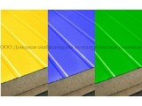 Сэндвич-панели из пенополиуретана:Пане ль стеновая с двухстор. облиц. ПП:1ПТС 80-2х0,5-1190 .