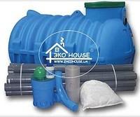 Септики для дачи 600 л. в сутки, объем 2000 литров, автономная канализация для 2-3 человек комплект.