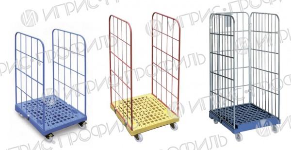 Сетчатый роллконтейнер на колесах используется для перемещения товаров: склад-склад, склад-магазин, магазин-магазин.