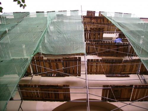 Сетка фасадная 95г/кв. м зелено-черная