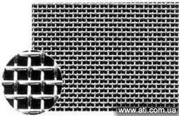 Сетка нержавеющая тканая 12Х18Н10Т 0,55х0,55х0,28мм ГОСТ 3826-82 ширина рулона 1000мм