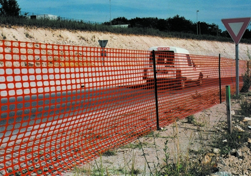 Сетка пластиковая для ограждения и спортплощадок, оранжевая, ГРИФОН 1х 50 м, Tenax, Италия
