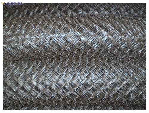 Сетка рабица из оцинкованной проволоки ГОСТ 3282-74 диаметр 1,4мм. - 5мм. Ширина от 0,5м. до 5м.