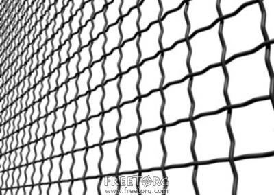 Сетка РИФЛЕНАЯ (канилированная, сложно-рифленая) - для вольеров , забора и ограждения 65*65*4