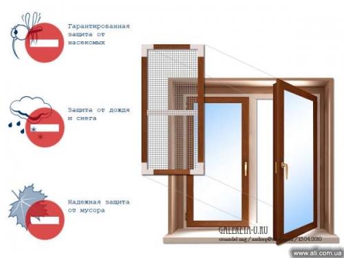 Сетки антимоскитные для металлопластиковых окон.