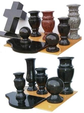 Шары на забор, вазы ритуальные