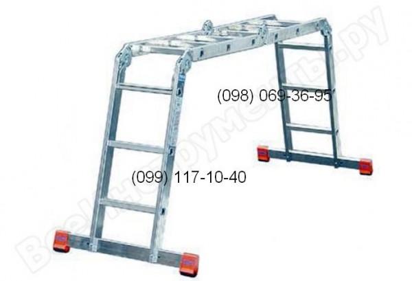 Шарнирная лестница алюминиевая. Большой выбор, высокое качество, доставка по всей Украине! В наличии на складе!