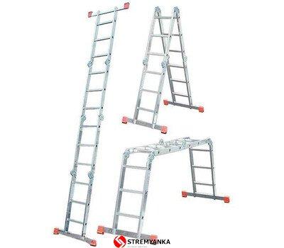 Фото  1 Шарнирная лестница-стремянка KRAUSE MultiMatic 4x3 ступеней 2234196