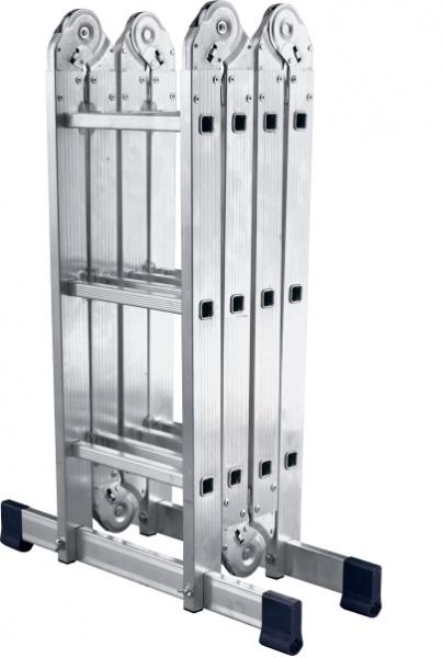 Фото  1 Шарнирная универсальная лестница трансформер четырехсекционная на 3 ступени 2255523