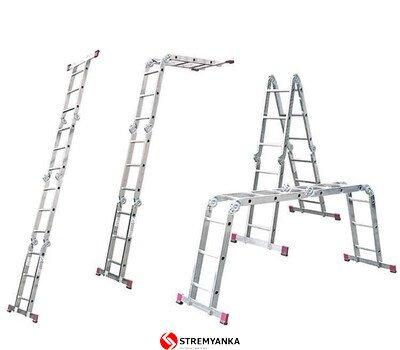 Фото  1 Шарнирная универсальная лестница KRAUSE Corda MultiMatic (4x3) 2234181