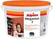 Шелковисто-матовая, латексная краска ALPINA MEGAMAX 7