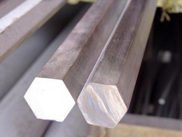 Шестигранник алюминиевый ф14 мм Д16Т (дюраль), длина 3,1-3,2 мп.