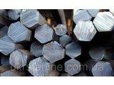Фото  1 Шестигранник стальной калиброванный № 55 мм ст. 20, 35, 45, 40Х длина от 3 до 6 м 2185908