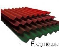 Фото 1 Шифер 8-волновой цветной крашеный асбестоцементный 330106